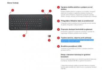 Tipkovnice Microsoft  Microsoft All-In-One Media tipkovnica