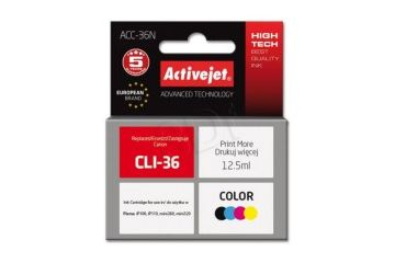 Kartuše ActiveJet  ActiveJet barvno črnilo Canon CLI-36