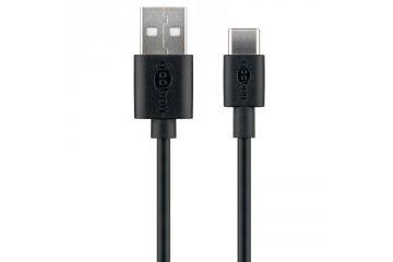 adapterji Goobay  GOOBAY USB-C 3m črn polnilni in sync kabel