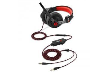 Slušalke   SHARKOON RUSH ER2 črno/rdeče gaming slušalke