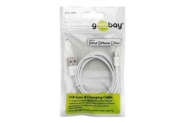 adapterji Goobay  GOOBAY USB bel 1m napajalni in sync MFi kabel za Apple