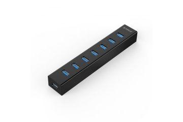 razširitvene kartice/adapterji Orico  USB hub s 7 vhodi USB 3.0, črn, ORICO H7013-U3-AD