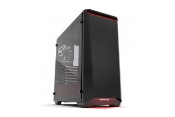 PC Ohišja Phanteks  PHANTEKS ECLIPSE P400 Tempered Glass USB3 ATX črno/rdeče ohišje
