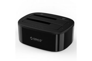 ohišja Orico  Postaja za HDD/SSD, 2x 2.5/3.5, SATA v USB 3.0, One-Key-Backup, ORICO 6228US3-C-EU
