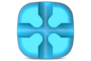kabli Orico  Samolepljivo držalo za kable, silikon, modro, ORICO CBSX-BL