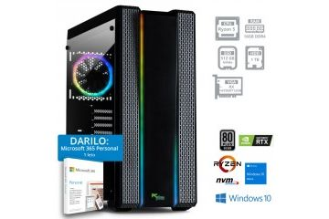 Namizni računalniki PCplus   PCPLUS GAMER R5 5600X 16GB 512GB 1TB RX 6700XT Windows 10 Home + darilo: 1 leto Microsoft 365 Personal namizni računalnik