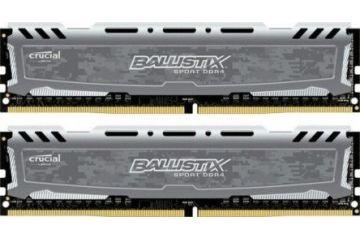 Pomnilnik CRUCIAL  CRUCIAL 16GB Kit (8GBx2) DDR4 2400 CL16 1.2V DIMM Ballistix Sport LT - BLS2C8G4D240FSB