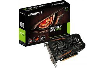 Grafične kartice Gigabyte  GIGABYTE GeForce GTX 1050 WindForce 2GB GDDR5 OC (GV-N1050OC-2GD) grafična kartica