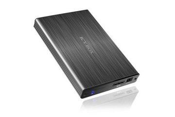 ohišja ICY BOX Icybox IB-231StU3-G zunanje ohišje, 2.5'' SATA, USB 3.0, aluminijasto, črno