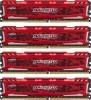 Pomnilnik CRUCIAL  CRUCIAL 16GB Kit (4GBx4) DDR4 2400 CL16 1.2V Ballistix Sport LT Red DIMM  - BLS4C4G4D240FSE