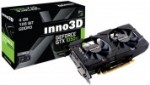 Grafične kartice Inno3D  INNO3D Twin X2 GeForce GT 1050 Ti 4GB GDDR5 (N105T-1DDV-M5CM) grafična kartica